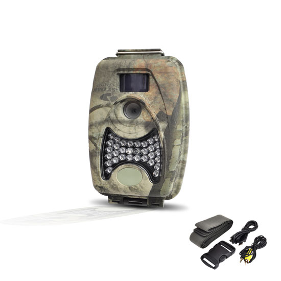 Pyle - PHTCM28 , Sports & Outdoors , Hunting cameras , Water Resistant Night Vision Wild Game Trail Scouting Camera, Record Video, Take Pictures, Invisible Flash