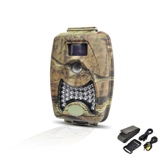 Pyle - PHTCM38 , Gadgets and Handheld , Action and Outdoor Cameras , Water Resistant Night Vision Wild Game Trail Scouting Camera, Record Video, Take Pictures, Invisible Flash, Time Lapse Function