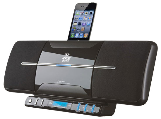 Pyle - PICD65I , Home Audio / Video , i-Pod - iPad & MP3 Accessories , iPod/iTouch/iPhone Flat Panel Motorized Vertical FM Radio CD Sound System