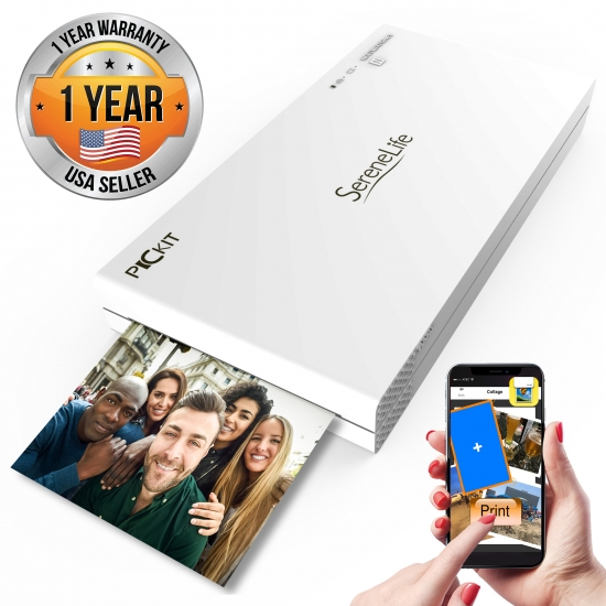 Pyle - PICKIT20 , Gadgets and Handheld , Cameras - Videocameras , Portable Instant Photo Printer - Wireless Digital Picture Printing for iPhone or Android Smartphone Camera