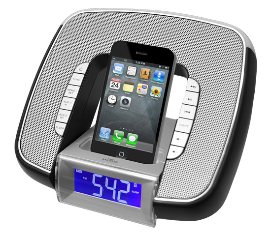 Pyle - PICL29B , Home Audio / Video , iPod Tower Systems , iPod & iPhone Docking/Aux input Clock Radio W/ FM Reciever & Dual Alarm Clock