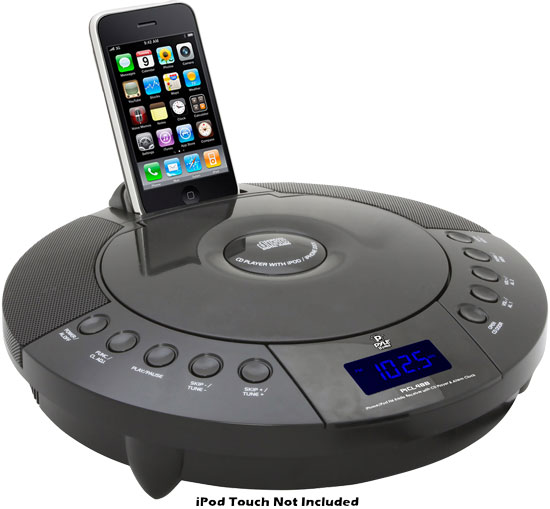 Pyle - PICL48B , Home and Office , SoundBars - Home Theater , IPhone/IPod FM Radio Receiver with CD Player & Alarm Clock