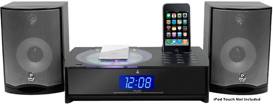 Pyle - PICL82B , Home and Office , SoundBars - Home Theater , IPhone/IPod FM Radio Micro Receiver with CD Player & Alarm Clock