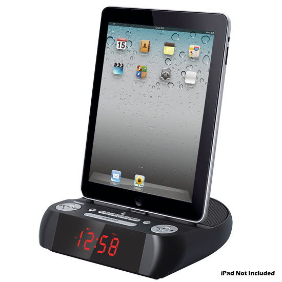 Pyle - PICL90PAD , Home Audio / Video , i-Pod - iPad & MP3 Accessories , iPad/iPhone/iPod Docking Speaker System with Alarm Clock and FM Radio