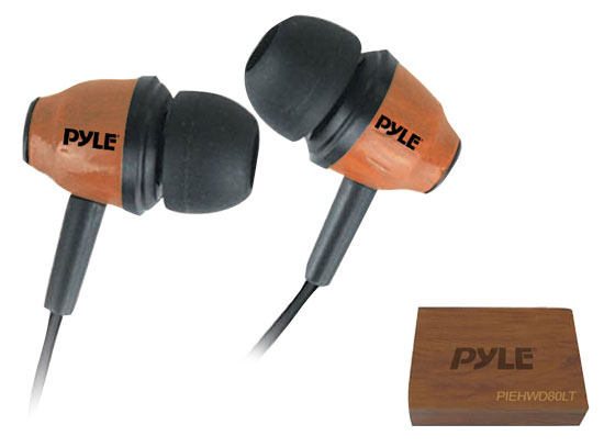 Pyle - PIEHWD80LT , Gadgets and Handheld , Headphones - MP3 Players , Sound and Recording , Headphones - MP3 Players , Wood-Bud Wooden In-Ear Ear-Buds Stereo Ultra Bass Headphones (Red Mahogany)