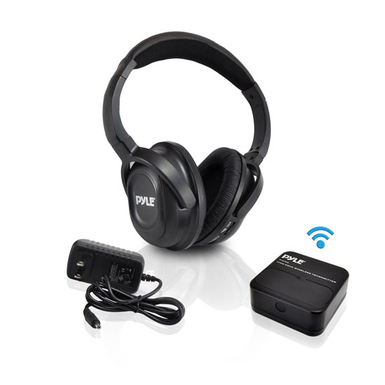 Pyle - PIH20 , Home Audio / Video , iPod Tower Systems , UHF Wireless Headphones with iPhone/iPod Dock Transmitter and Aux Input