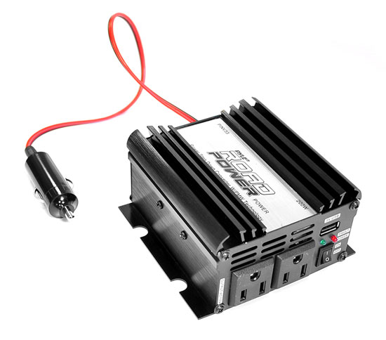 Pyle - PINV33 , Home and Office , Power Supply - Power Converters , On the Road , Power Supply - Power Converters , Plug in Car 200 Watt 12v DC to 115 Volt AC Power Inverter w/ Modified Sine Wave & 5 Volt USB Outlet