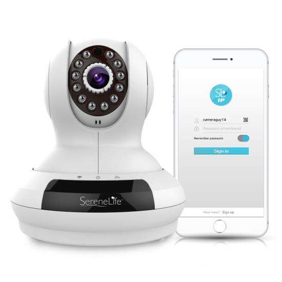 Pyle - UIPCAMHD61 , Home and Office , Cameras - Videocameras , HD Wireless IP Camera / WiFi Cam, Remote Video Monitoring Surveillance Security, Built-in Speaker, Microphone, PTZ (Pan, Tilt, Zoom) Control, App Download