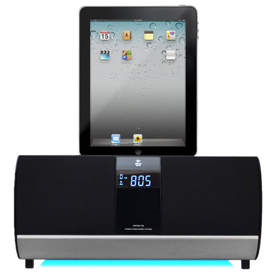 Pyle - PIPDK78 , Home and Office , Alarm Clock Radios - Plug-in Speakers , FM Receiver Radio W/ iPOD/iPad/Iphone Docking Station & Alarm Clock
