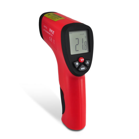 Pyle - PIRT25 , Tools and Meters , Temperature and Humidity , Compact Infrared Thermometer With Laser Targeting