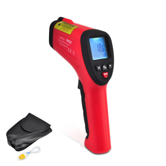 Pyle - PIRT30 , Tools and Meters , Temperature - Humidity - Moisture , High Temperature Infrared Thermometer with Type K Input