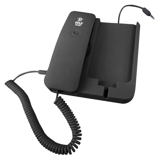Pyle - PIRTR60BK , Home Audio / Video , Headphones , Handheld Phone and Desktop Dock for iPhone (Black color)
