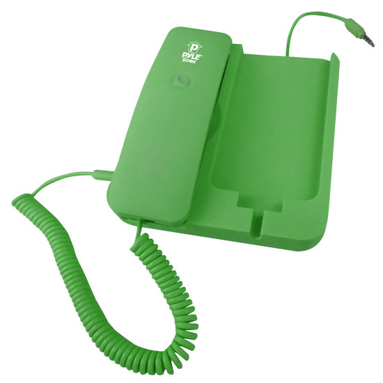 Pyle - PIRTR60GR , Sound and Recording , Headphones - MP3 Players , Handheld Phone and Desktop Dock for iPhone (Green color)