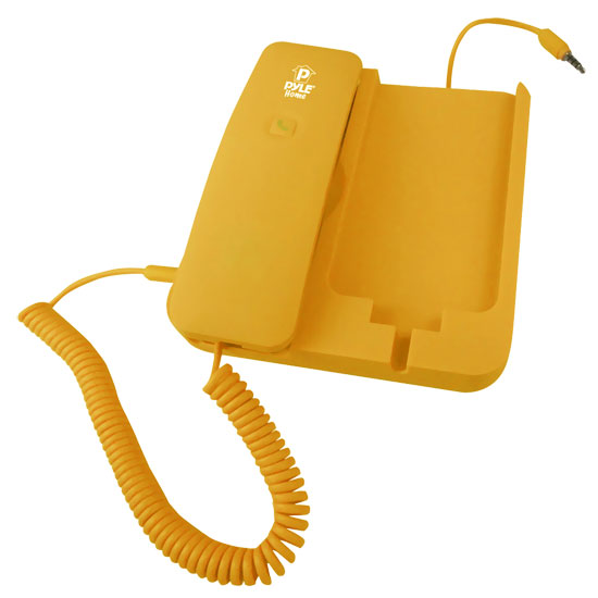 Pyle - PIRTR60YL , Sound and Recording , Headphones - MP3 Players , Handheld Phone and Desktop Dock for iPhone (Yellow color)