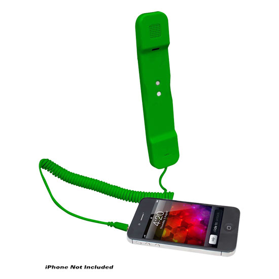 Pyle - PITP8GR , Sports and Outdoors , Portable Speakers - Boom Boxes , Handset for iPhone, iPad, iPod, and Android Phones - Easy Use - Green