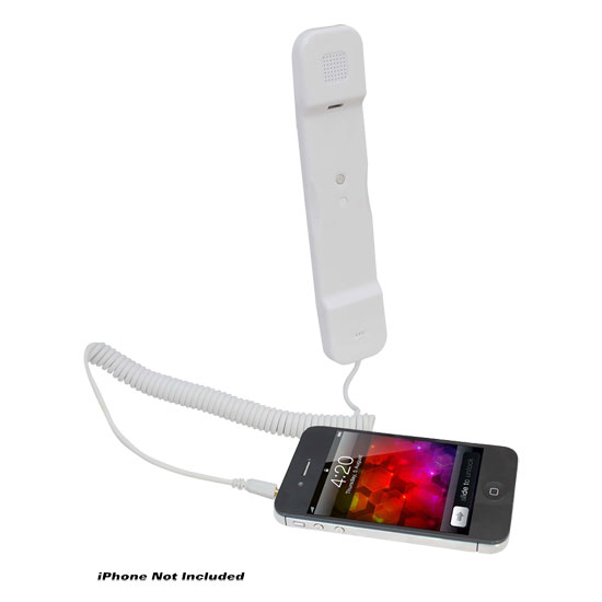 Pyle - PITP8WT , Sports and Outdoors , Portable Speakers - Boom Boxes , Handset for iPhone, iPad, iPod, and Android Phones - Easy Use - White