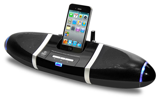 Pyle - PIWPD3 , Sports and Outdoors , Portable Speakers - Boom Boxes , iPod iPhone4 4S Dock  with wireless Speakers with Aux Input For All Other Mp3 Players / Android Phones and iPhone 5
