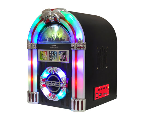 Pyle - PJUB15 , Home Audio / Video , Jukebox , Retro Tabletop Radio Jukebox with USB MP3 Playback