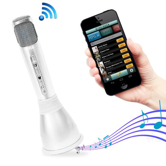 Pyle - AZPKRK68MC , Musical Instruments , Microphones - Headsets , Sound and Recording , Microphones - Headsets , Bluetooth Karaoke Microphone Speaker System with Wireless Megaphone-Style Mic Broadcasting