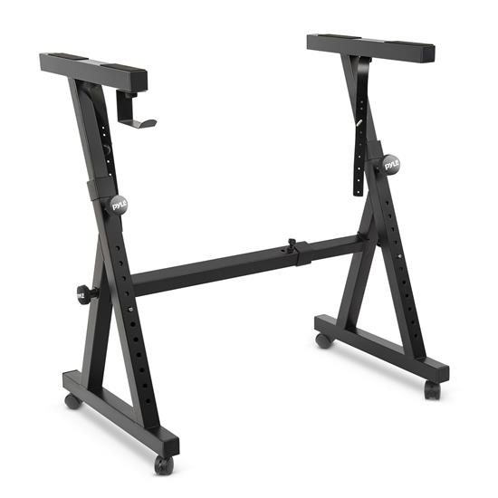 Pyle - PKST48 , Misc , Heavy-Duty Keyboard Stand with Wheels - Digital/Electronic Piano Stand with Height Adjustable & Locking Wheels