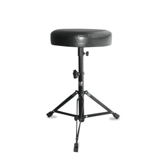 Pyle - PKST50 , Musical Instruments , Musician Accessories , Double Braced Folding Padded Drum Throne - Keyboard Bench - Guitar Stool