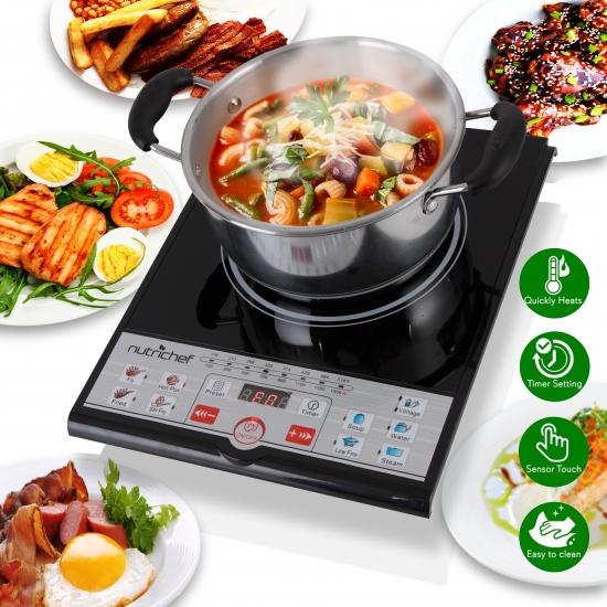 Induction Cooktop Griddle ~ Nutrichef pkstind kitchen cooking cooktops