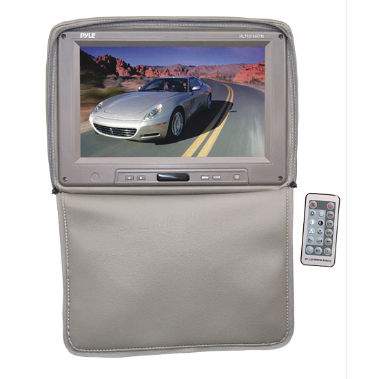 Pyle - PL1101HRTN , Mobile Video / Navigations , Headrest Monitors , Adjustable Headrest w/ Built-In 11'' TFT/LCD Monitor W/IR Transmitter & Cover (Tan)