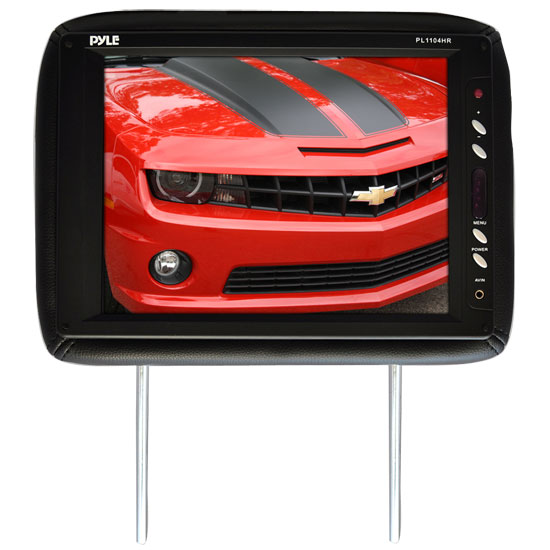 Pyle - PL1104HRBK , Mobile Video / Navigations , Headrest Monitors , Adjustable Headrest w/ Built-In 11.3'' TFT LCD Monitor and IR Transmitter