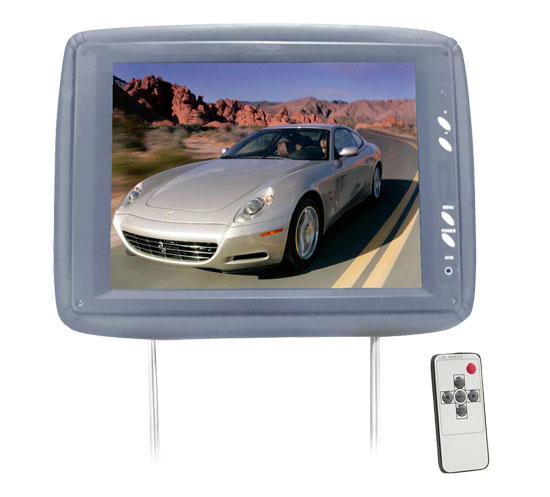 Pyle - PL1104HRGR , On the Road , Headrest Video , Adjustable Headrest w/ Built-In 11.3'' TFT LCD Monitor and IR Transmitter