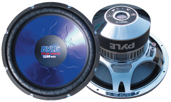 Pyle - PL1295BL , On the Road , Vehicle Subwoofers , 12'' 1200 Watt DVC Subwoofer