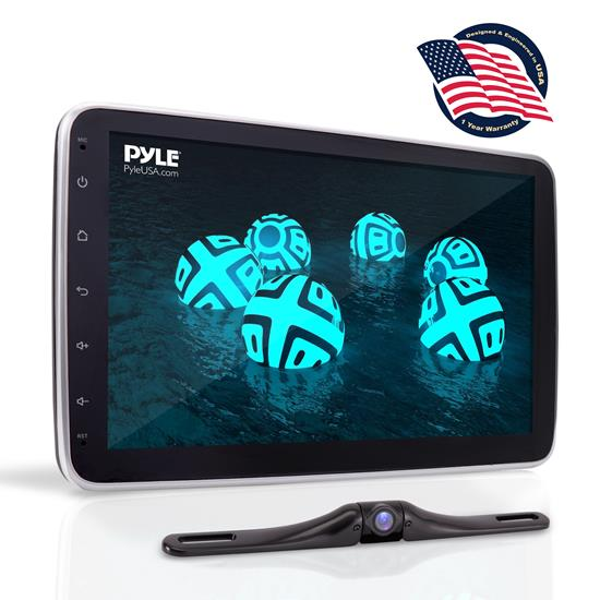 Pyle - PL2DN105 , On the Road , Headunits - Stereo Receivers , 10.1'' Touch Screen TFT/LCD Monitor - Double Din MP5 Player With Swivel Screen, Phone Link, With Backup Camera