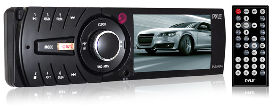 Pyle - PL3MP4 , Mobile Video / Navigations , In-Dash DVD With Monitors , 3'' TFT/LCD Monitor MP3/MP4/SD/USB Player & AM/FM Receiver