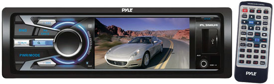 Pyle - PL3MU4 , On the Road , Headrest Video , 3'' TFT/LCD Monitor MP3/MP4/RMVB/RM/SD/USB Player & AM/FM Receiver
