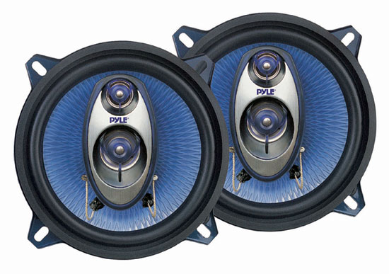 Pyle - PL53BL , On the Road , Vehicle Speakers , 5.25'' 200 Watt Three-Way Speakers