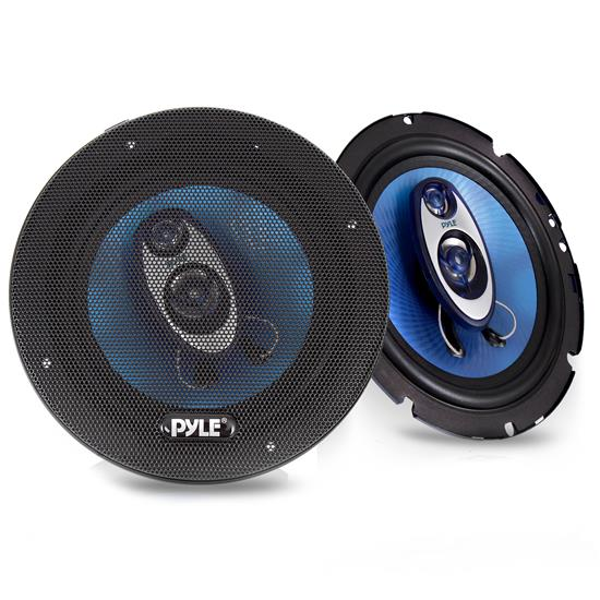 Pyle - PL63BL , On the Road , Vehicle Speakers , 6.5'' 360 Watt Three-Way Speakers