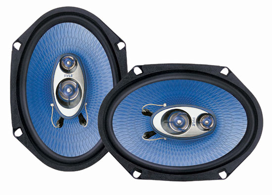 Pyle - PL683BL , On the Road , Vehicle Speakers , 6'' x 8'' 360 Watt Three-Way Speakers