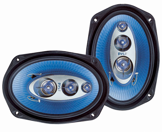 Pyle - PL6984BL , On the Road , Vehicle Speakers , 6''x 9'' 400 Watt Four-Way Speakers