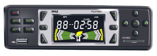 Pyle - PL91MU , Car Audio , Car Stereos , AM/FM-MPX Electronic Tunning Radio w/USB/SD/MMC Reader