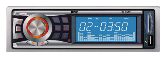 Pyle - PL95MU , On the Road , Headunits, Receivers , AM/FM-MPX Electronic Tunning Radio w/USB/SD/MMC Reader