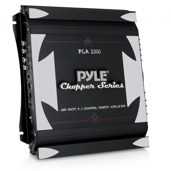 Pyle - PLA2200 , On the Road , Vehicle Amplifiers , 2 Channel 1400 Watt Bridgeable Mosfet Amplifier