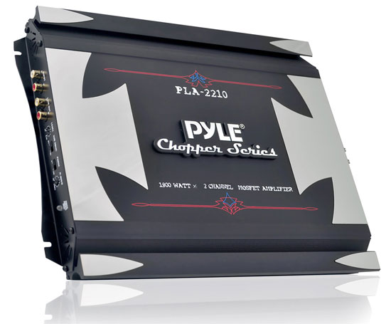 Pyle - PLA2210 , Car Audio , Amplifiers , 2 Channel Amplifiers , 2 Channel 1800 Watt Bridgeable Mosfet Amplifier