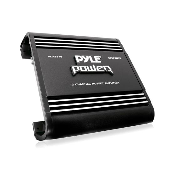 Pyle - PLA2378 , Car Audio , Amplifiers , 2 Channel Amplifiers , 2 Channel 2000 Watts Bridgeable Mosfet Amplifier