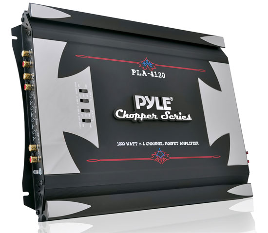 Pyle - PLA4120 , On the Road , Vehicle Amplifiers , 1000 Watts 4 Channel High Power Mosfet Amplifier
