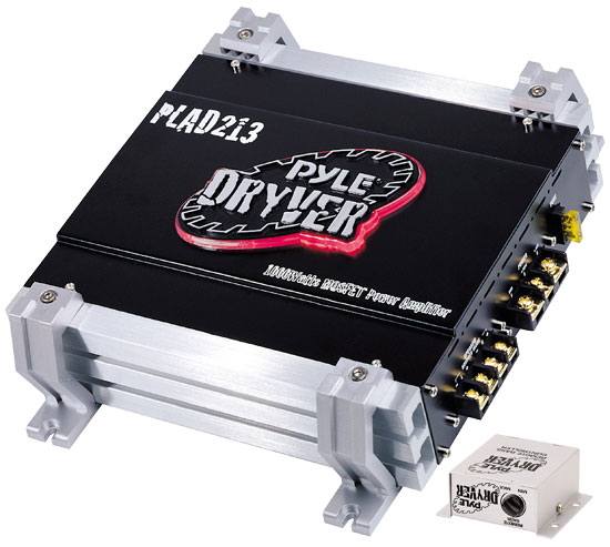 Pyle - PLAD213 , On the Road , Vehicle Amplifiers , 2 Channel 1000 Watt Bridgeable Mosfet Amplifier