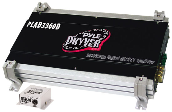 Pyle - PLAD3300D , On the Road , Vehicle Amplifiers , Dryver 3600 Watt Mono Block Mosfet Digital Amplifier