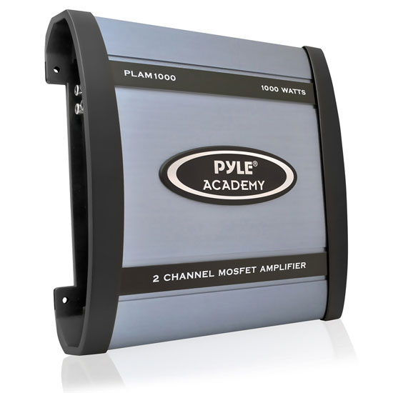 Pyle - PLAM1000 , On the Road , Vehicle Amplifiers , 1000 Watts 2 Channel Bridgeable Amplifier