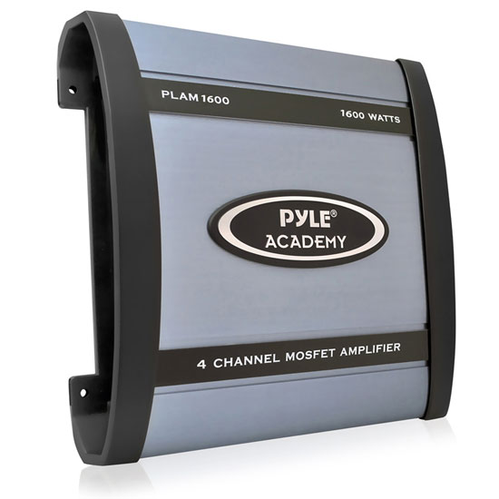 Pyle - PLAM1600 , Car Audio , Amplifiers , 4 Channel Amplifiers , 1600 Watts 4 Channel Bridgeable Amplifier