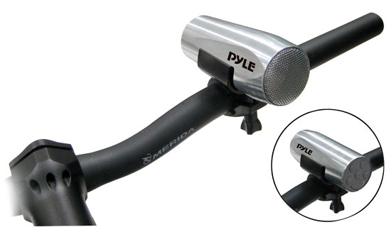 Pyle - PLBKA100SL , On the Road , Motorcycle and Off-Road Speakers , 100 Watts Waterproof Portable Bicycle/Scooter MP3/Ipod Music Player (Silver)