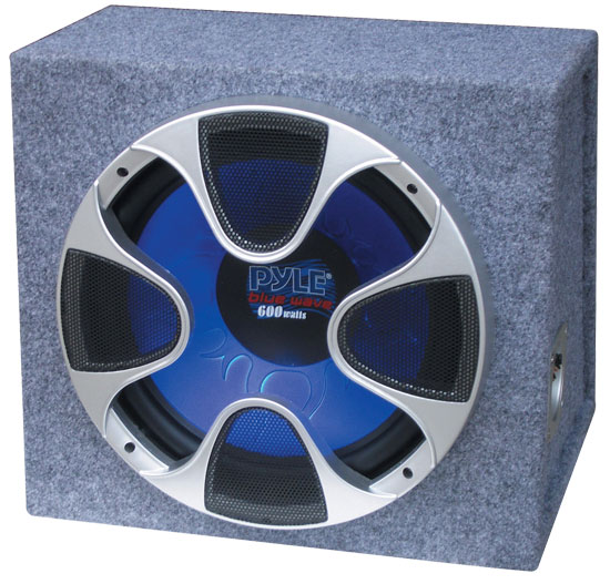 Pyle - PLBS10 , On the Road , Subwoofer Enclosures , 10'' 400 Watt Bandpass subwoofer