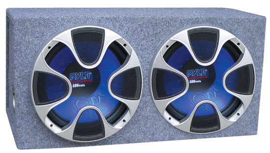 Pyle - PLBS102 , On the Road , Subwoofer Enclosures , Dual 10'' 800 Watt Bass Box Enclosure System